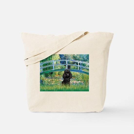 Bridge / Poodle (Black) Tote Bag