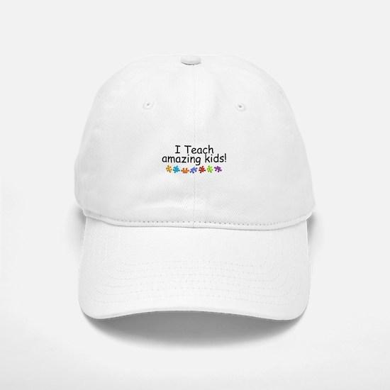 I Teach Amazing Kids Baseball Baseball Cap