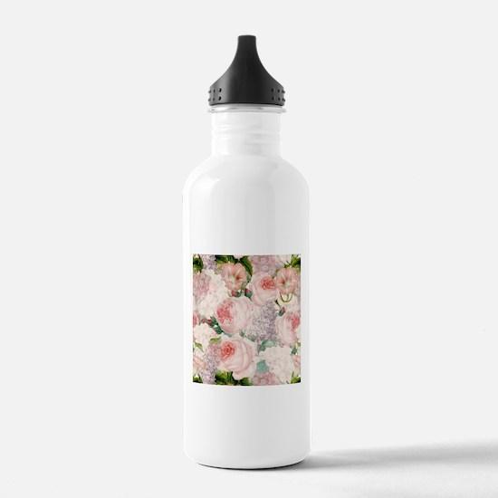Vintage Roses Lilacs S Water Bottle