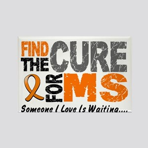 Find The Cure 1 MS Rectangle Magnet
