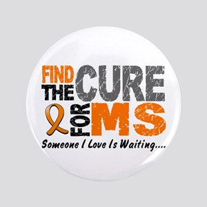 "Find The Cure 1 MS 3.5"" Button"