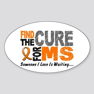 Find The Cure 1 MS Oval Sticker