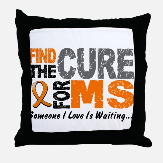 Find The Cure 1 MS Throw Pillow