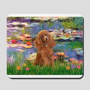 Lilies / Poodle (Apricot) Mousepad