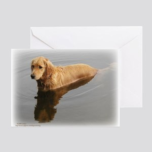 Wet Golden Retriever Greeting Card