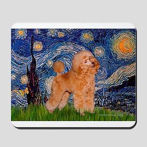 Starry / Poodle (Apricot) Mousepad