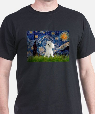 Starry / Poodle (White) T-Shirt