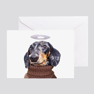 Angel Spotted Doxie Greeting Card