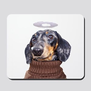Angel Spotted Doxie Mousepad