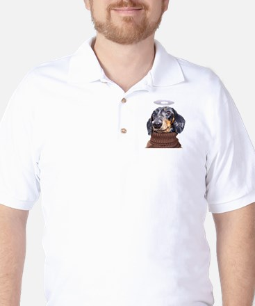 Angel Spotted Doxie Golf Shirt