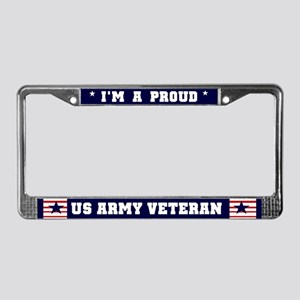 Proud US Army Veteran License Plate Frame
