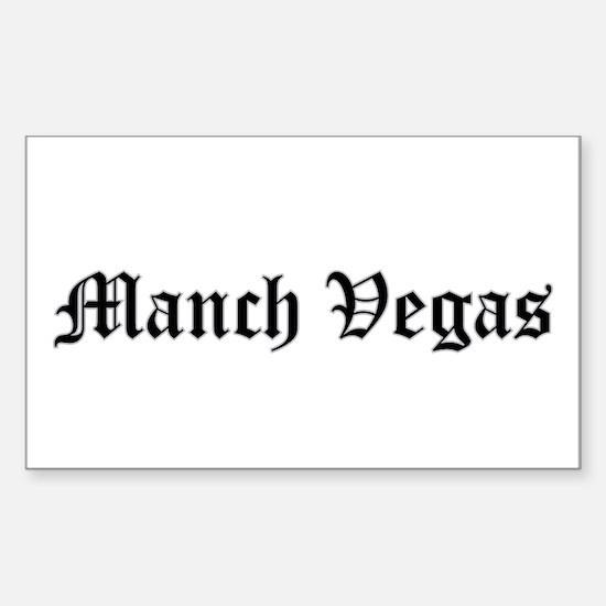 manch vegas - Rectangle Decal