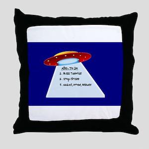UFO To Do Throw Pillow
