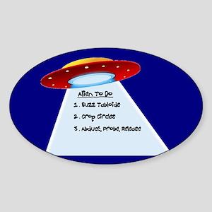 UFO To Do Oval Sticker