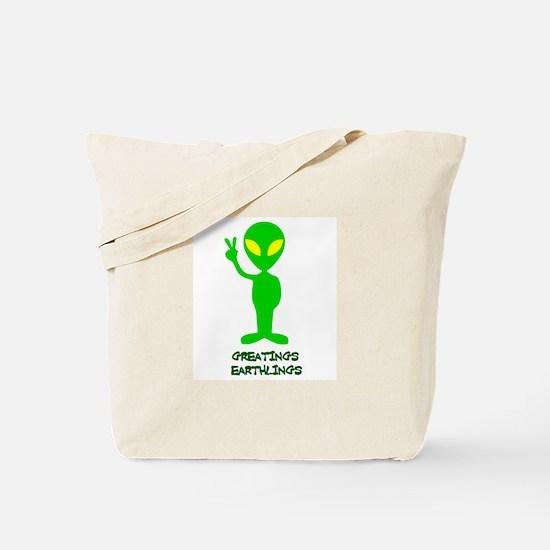 Greetings Earthlings Tote Bag