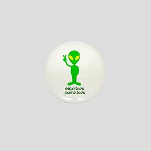 Greetings Earthlings Mini Button