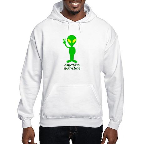Greetings Earthlings Hooded Sweatshirt