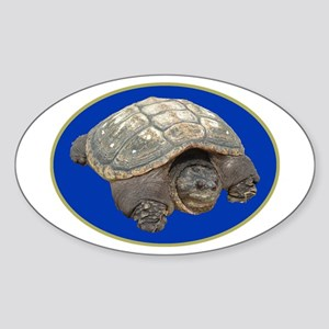 Snapping Turtle Oval Sticker