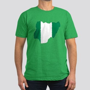 Vintage Nigeria Men's Fitted T-Shirt (dark)