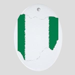 Vintage Nigeria Oval Ornament