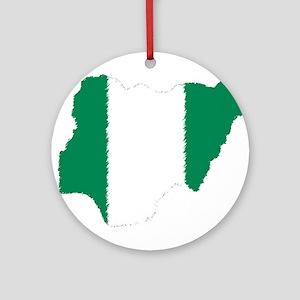 Vintage Nigeria Ornament (Round)
