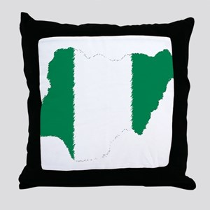 Vintage Nigeria Throw Pillow