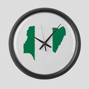 Vintage Nigeria Large Wall Clock