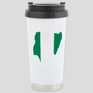 Vintage Nigeria Stainless Steel Travel Mug