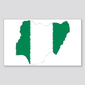 Vintage Nigeria Rectangle Sticker