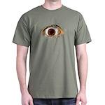 ad-free Big Eye Black T-Shirt Design