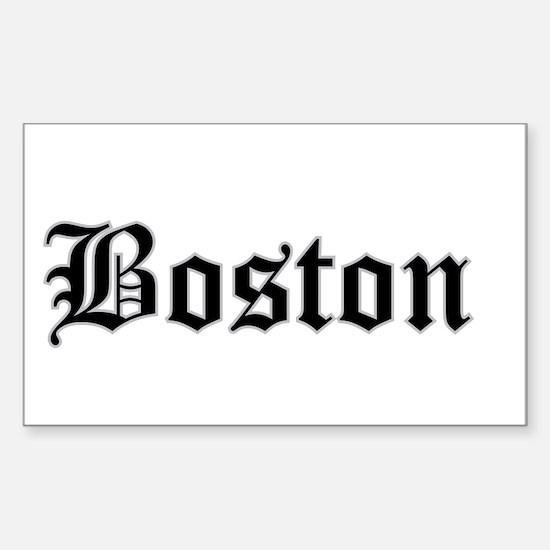 boston - Rectangle Decal