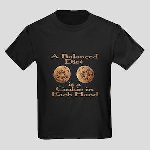 A Balanced Diet . . . Kids Dark T-Shirt