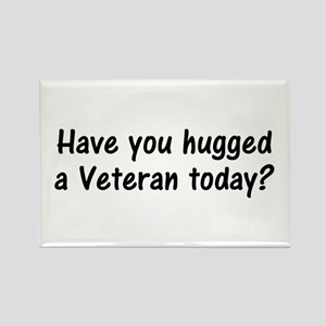 Hug A Veteran Gifts Rectangle Magnet