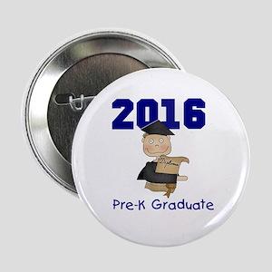 """2016 Boy Pre-K Grad 2.25"""" Button"""