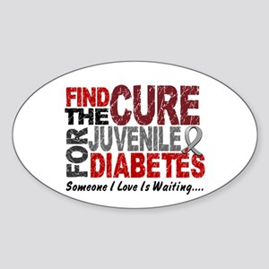 Find The Cure 1 JUV DIABETES Oval Sticker