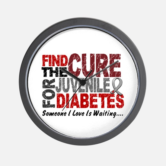 Find The Cure 1 JUV DIABETES Wall Clock