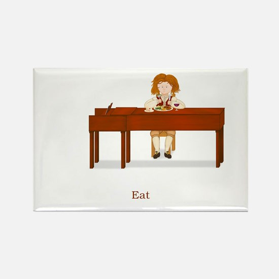 A Pianist's Life (Eat) Rectangle Magnet