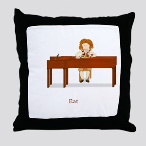 A Pianist's Life (Eat) Throw Pillow