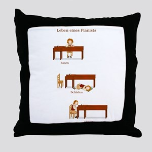 Leben eines Pianists Throw Pillow