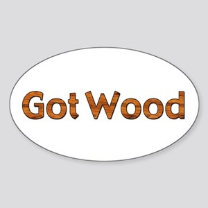 Got Wood Oval Sticker