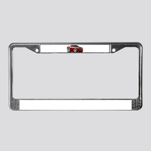 Challenger Maroon Car License Plate Frame