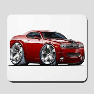 Challenger Maroon Car Mousepad
