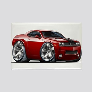 Challenger Maroon Car Rectangle Magnet