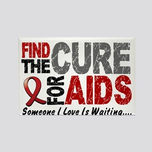 Find The Cure 1 HIV AIDS Rectangle Magnet