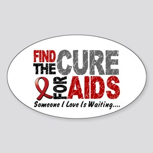 Find The Cure 1 HIV AIDS Oval Sticker