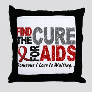 Find The Cure 1 HIV AIDS Throw Pillow