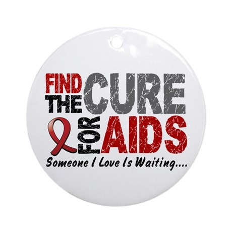 Find The Cure 1 HIV AIDS Ornament (Round)