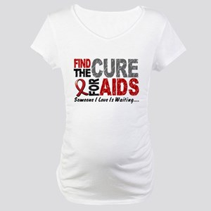 Find The Cure 1 HIV AIDS Maternity T-Shirt