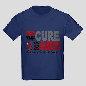 Find The Cure 1 HIV AIDS Kids Dark T-Shirt