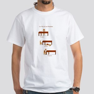 La Vita di un Pianista White T-Shirt